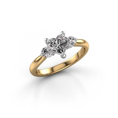 Foto van Verlovingsring Lieselot HRT 585 goud diamant 1.24 crt