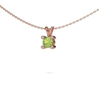 Picture of Pendant Fleur 375 rose gold peridot 5 mm