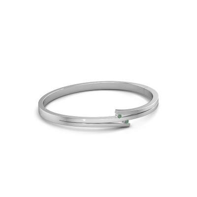 Bild von Armband Roxane 585 Weißgold Smaragd 2 mm
