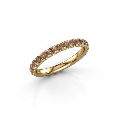 Foto van Ring Jackie 2.3 375 goud bruine diamant 1.25 crt