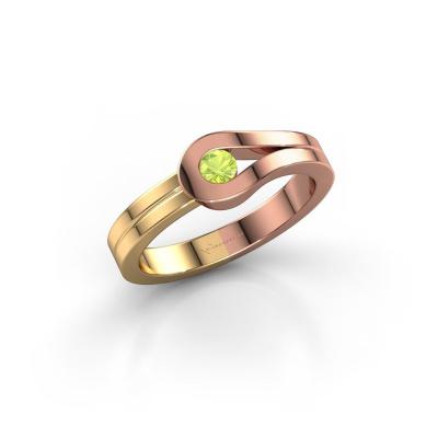 Ring Kiki 585 rose gold peridot 3 mm