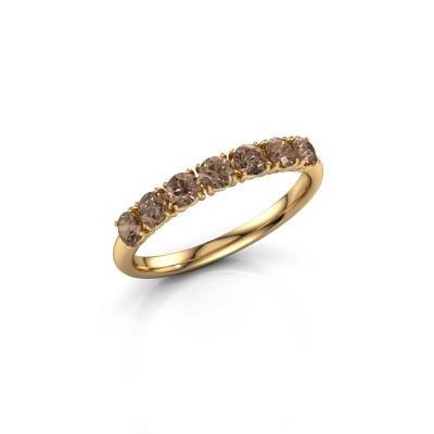 Picture of Ring Vivienne Half 375 gold brown diamond 0.665 crt