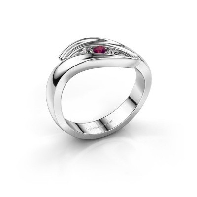 Picture of Ring Erin 925 silver rhodolite 2.4 mm