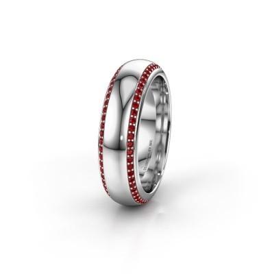 Wedding ring WH6132L36C 950 platinum ruby ±6x2.2 mm