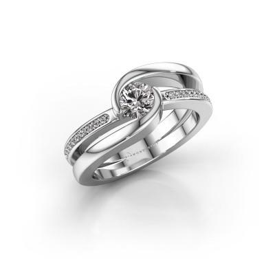 Foto van Ring Xenia 950 platina zirkonia 5 mm