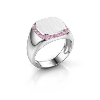 Heren ring Jesse 1 925 zilver roze saffier 1.2 mm