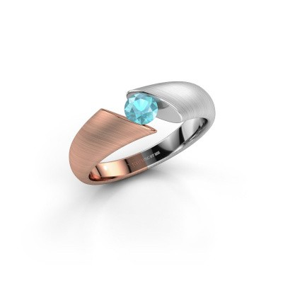 Picture of Ring Hojalien 1 585 rose gold blue topaz 4.2 mm