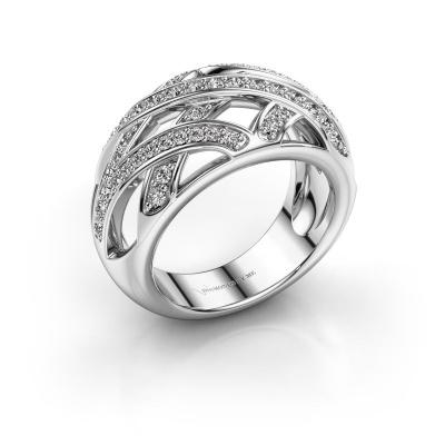 Ring Yinthe 585 white gold zirconia 1.5 mm