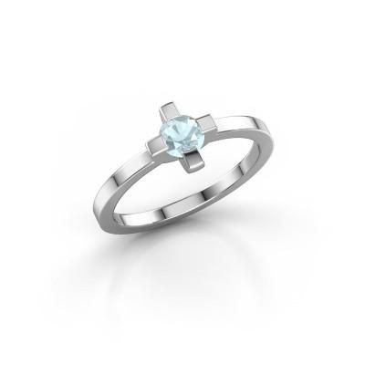 Ring Therese 925 zilver aquamarijn 4.2 mm