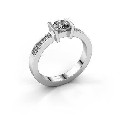 Aanzoeksring Maryam 585 witgoud diamant 0.50 crt