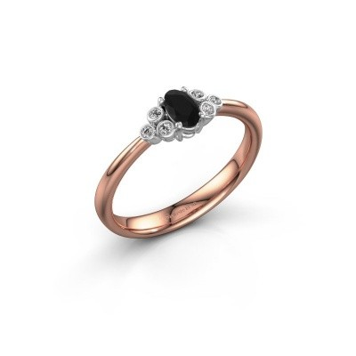 Picture of Engagement ring Lucy 1 585 rose gold black diamond 0.672 crt