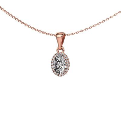 Hanger Seline ovl 585 rosé goud lab-grown diamant 0.800 crt