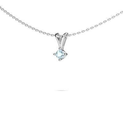 Picture of Necklace Jannette 950 platinum aquamarine 3.7 mm