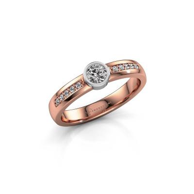Engagement ring Ise 2 585 rose gold diamond 0.45 crt