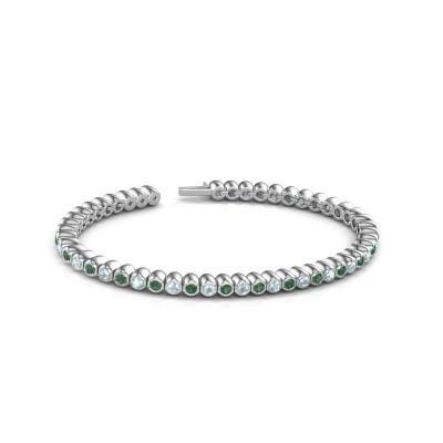 Bild von Tennis Armband Patrica 585 Weißgold Smaragd 2.4 mm