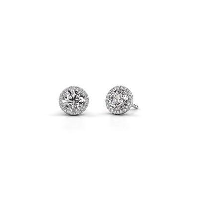 Oorbellen Seline rnd 925 zilver diamant 2.20 crt