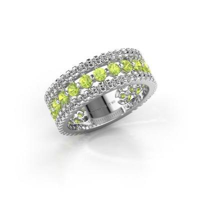 Engagement ring Elizbeth 2 585 white gold peridot 2.4 mm