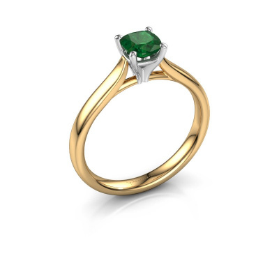 Verlobungsring Mignon cus 1 585 Gold Smaragd 5 mm