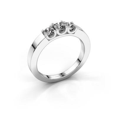 Picture of Engagement ring Selina 1 950 platinum zirconia 3.7 mm