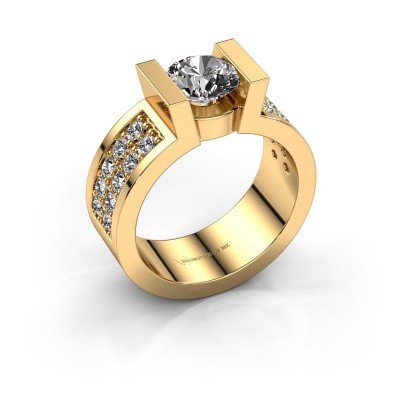 Verlovingsring Lieve 3 375 goud diamant 1.00 crt