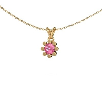 Bild von Anhänger Carola 1 585 Gold Pink Saphir 5 mm