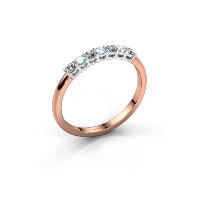 Engagement ring Michelle 7 585 rose gold aquamarine 2 mm