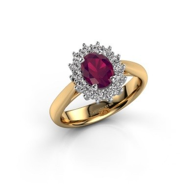 Picture of Engagement ring Margien 1 585 gold rhodolite 7x5 mm