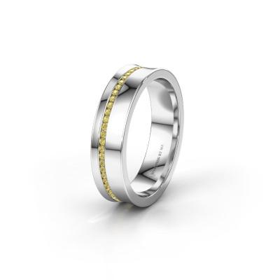 Ehering WH6090L55A 585 Weißgold Gelb Saphir ±5x1.7 mm