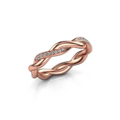 Vorsteckring Swing half 375 Roségold Diamant 0.18 crt