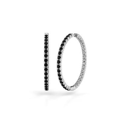 Foto van Creolen Miki 30mm 950 platina zwarte diamant 2.376 crt