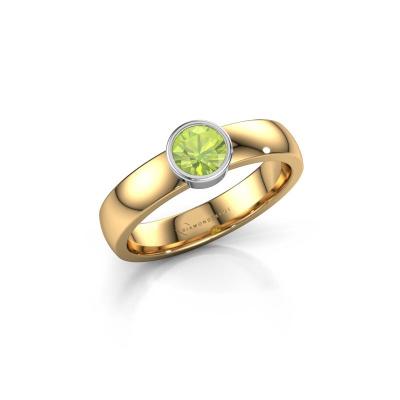 Ring Ise 1 585 goud peridoot 4.7 mm
