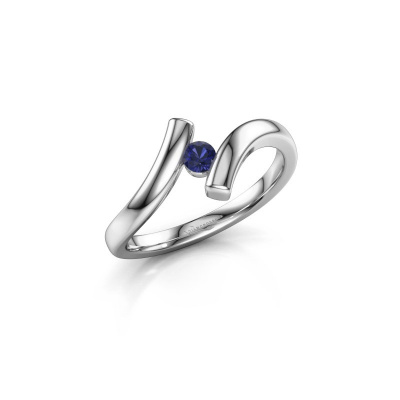 Ring Amy 585 witgoud saffier 3 mm