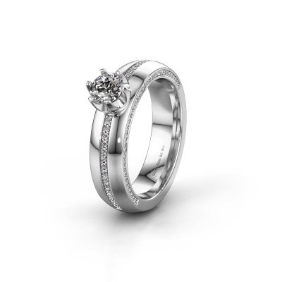 Weddings ring WH0416L25E 585 white gold zirconia ±0.20x0.1in