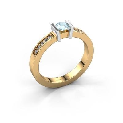 Engagement ring Maryam 585 gold aquamarine 4 mm