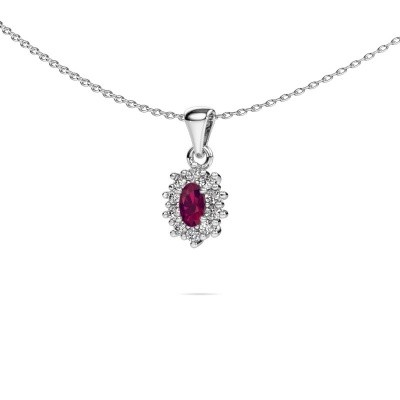 Picture of Necklace Leesa 585 white gold rhodolite 6x4 mm