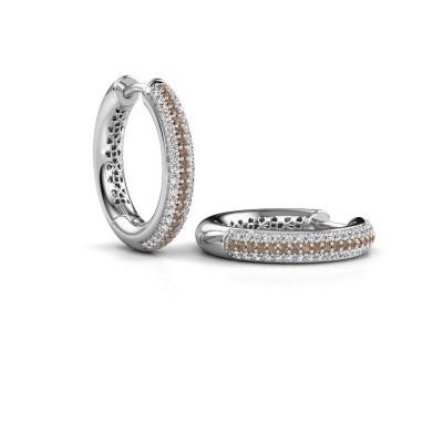 Foto van Creolen Tristan B 19 mm 950 platina bruine diamant 0.58 crt