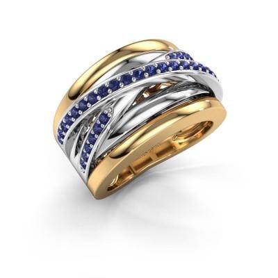 Foto van Ring Clair 3 585 goud saffier 1.5 mm