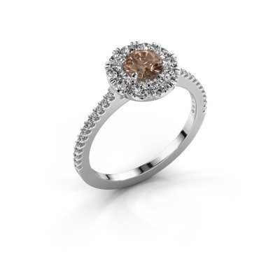 Picture of Engagement ring Misti 2 585 white gold brown diamond 0.92 crt