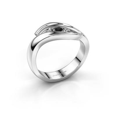 Foto van Ring Erin 925 zilver zwarte diamant 0.156 crt
