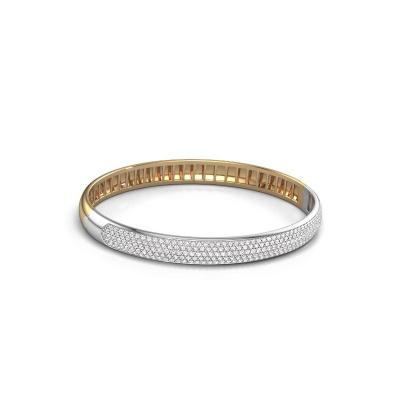 Slavenarmband Emely 7mm 585 goud diamant 2.013 crt