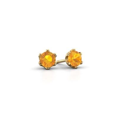 Foto van Oorstekers Fran 375 goud citrien 4.7 mm