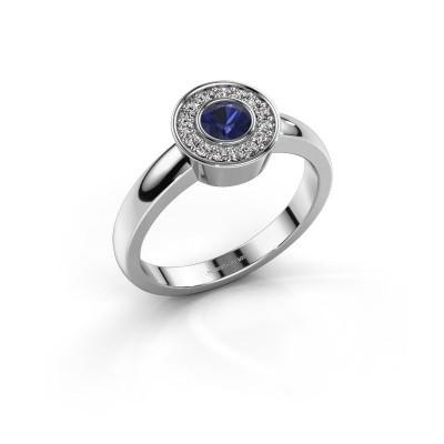 Ring Adriana 1 950 platina saffier 4 mm