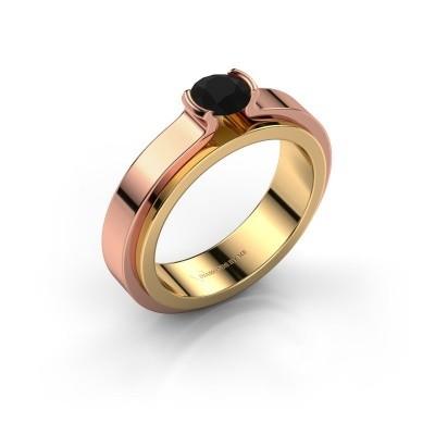 Foto van Verlovingsring Jacinda 585 goud zwarte diamant 0.48 crt