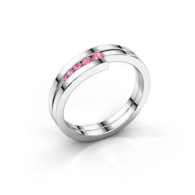 Ring Cato 925 silver pink sapphire 2.2 mm