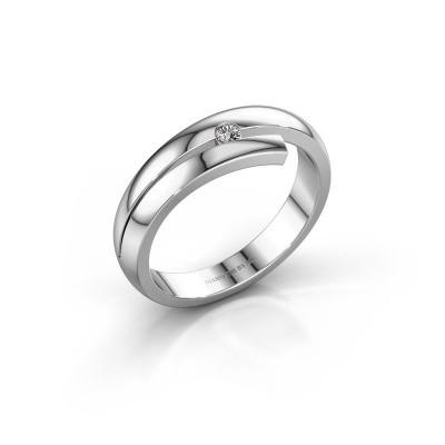 Ring Shela 585 witgoud diamant 0.045 crt