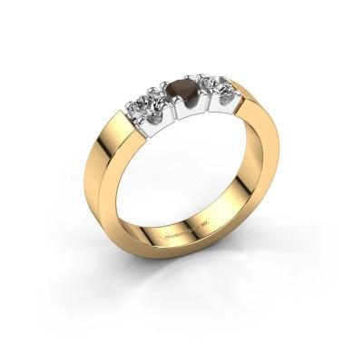 Foto van Verlovingsring Dana 3 585 goud rookkwarts 3.4 mm