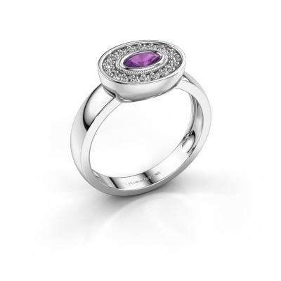Ring Azra 925 Silber Amethyst 5x3 mm