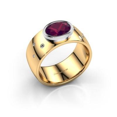 Ring Wilma 2 585 goud rhodoliet 8x6 mm