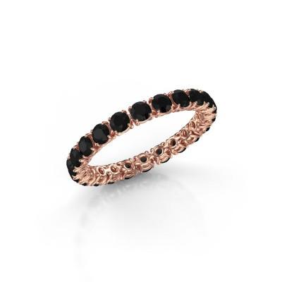 Foto van Ring Vivienne 2.7 375 rosé goud zwarte diamant 2.016 crt