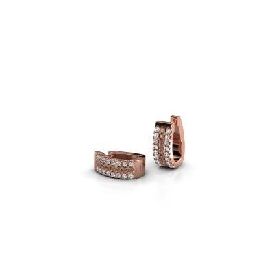 Foto van Creolen Nena 375 rosé goud bruine diamant 0.36 crt